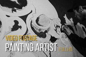 Painting Artist - Video Footage Clip