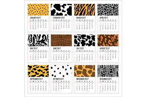 Calendar 2017 Year Vector Template