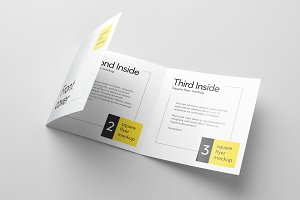 Tri-Fold Square Flyer Mockup