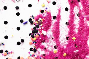 Scattered Colorful Cake Sprinkles