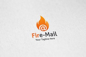 Fire Mail - Logo Template