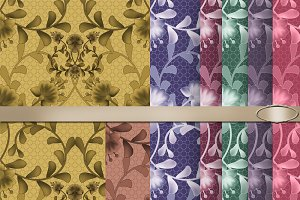 7 Floral pattern for textile.