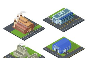 Isometric building vector set