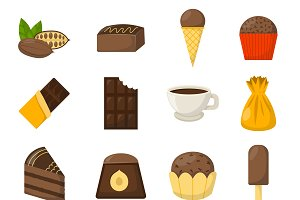 Chocolate symbols vector