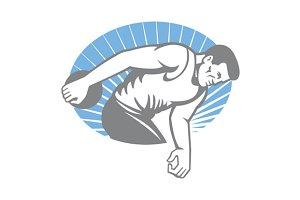 Athlete Discus Throw Retro
