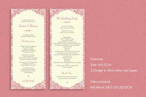 Elegant Wedding Program Template