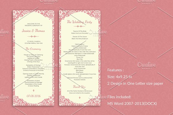 elegant wedding program template invitation templates creative