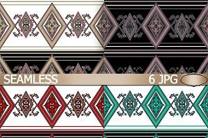 Set of ethnic folk patterns.