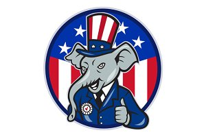 Republican Elephant Mascot Thumb