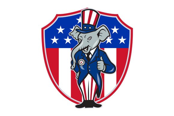 Republican Elephant Mascot Thumb