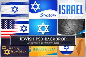 Jewish Background PSD