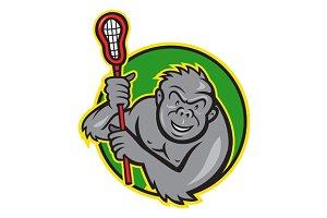 Gorilla Ape With Lacrosse Stick Circ