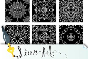9 Ornamental seamless patterns