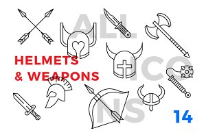 Helmets and weapons