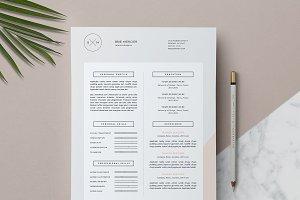 Minimal Resume Template / Brié