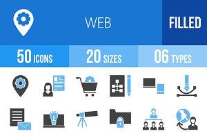 50 Web Blue & Black Icons