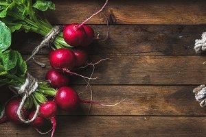 Fresh radish banches