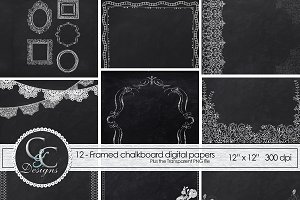 Chalkboard Frame Papers 12: Digital