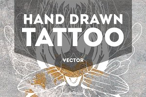 Hand Draw Vector Tattoo