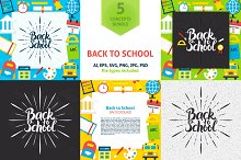 Back to School Vector Concepts