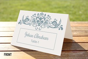 Printabl Wedding Place Card Template