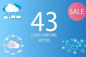 Sale - 43 cloud computing vectors