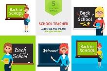 School Teacher Vector Concepts