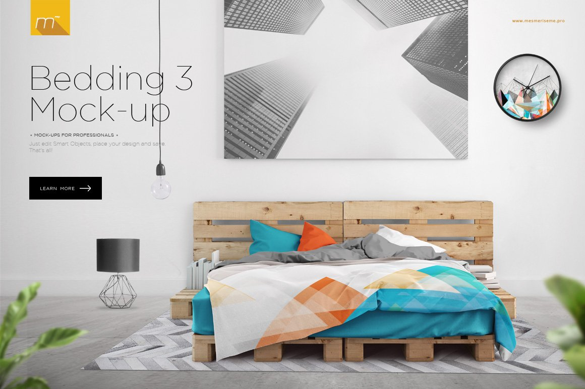 Bedding 3 Mock Up Product Mockups Creative Market
