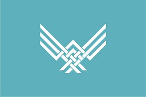 Abstract Eagle Logo