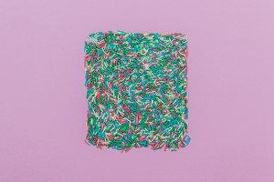 square of confetti