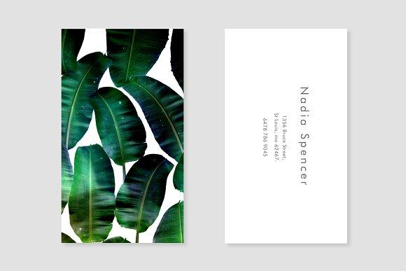 Banana leaf business card template business card templates banana leaf business card template business card templates creative market colourmoves