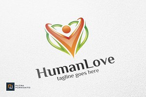 Human Love / Heart - Logo Template