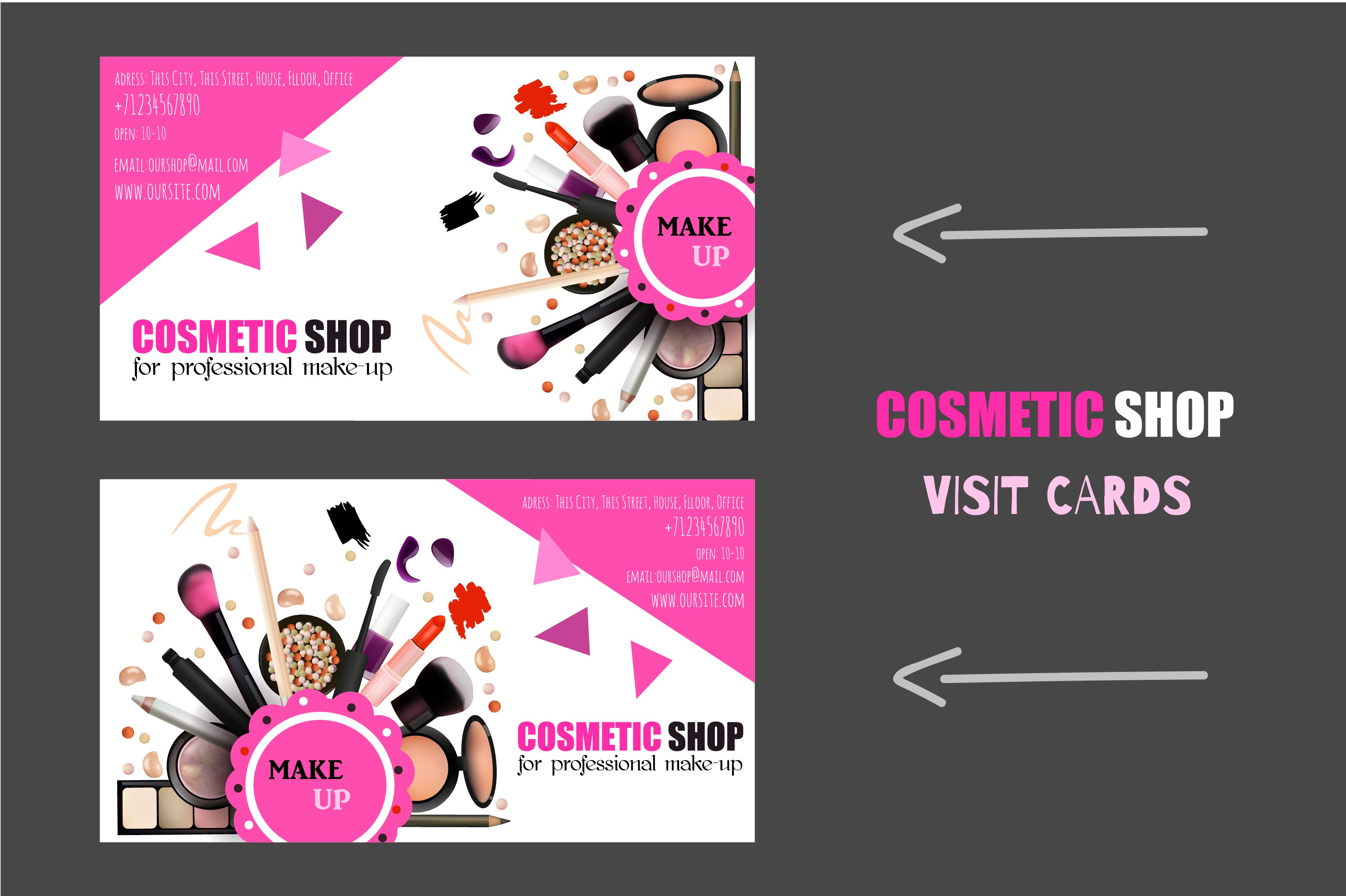 Colorful Cosmetic Business Cards Adornment - Business Card Ideas ...