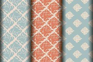 Set of 6classic patterns, Silk style