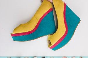 Sandals and seashells