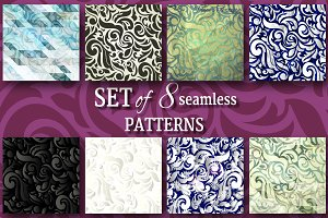 Collection of 8+1 swirls patterns