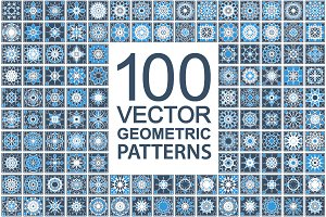 100Patterns with geometric ornaments