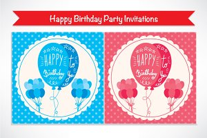 3 Cute Happy Birthday Invitations