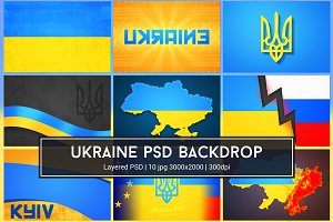 Ukraine Background PSD