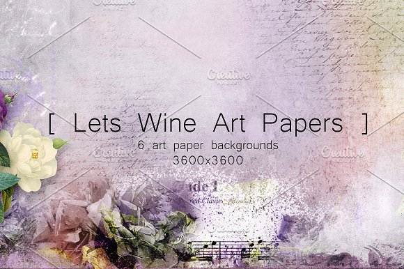 Lets Wine Art Papers