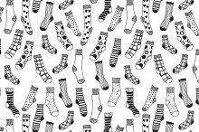 Seamless Pattern of Socks
