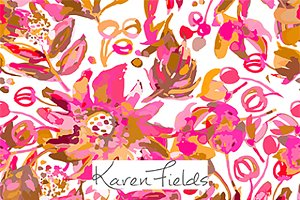 Repeat Pattern Design Pink Floral