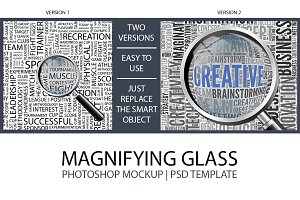 MAGNIFYING GLASS | Mockup Template
