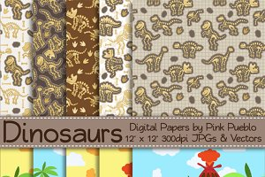 Dinosaur Backgrounds and Patterns