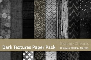 Dark Textures Paper Pack