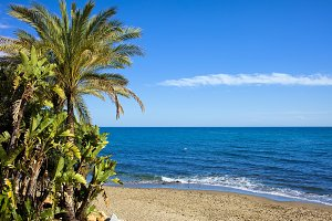 Beach on Costa del Sol in Spain