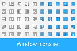 Window icons set