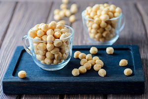 Puff croutons, small pastry balls, soup additive