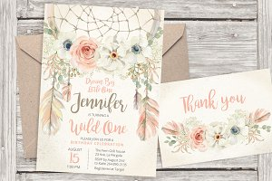 Pastel dreamcatcher invitation 17
