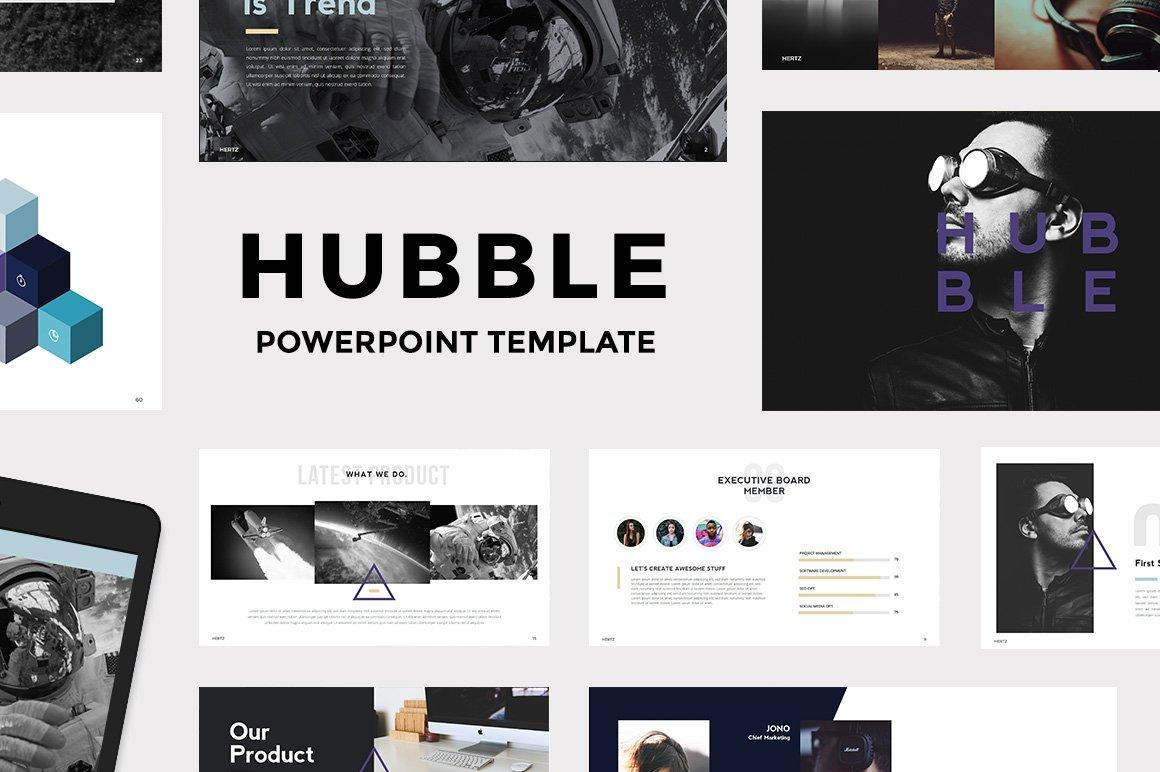 hubble modern powerpoint template presentation templates creative market. Black Bedroom Furniture Sets. Home Design Ideas